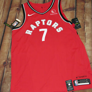 100% Authentic Nike Raptors Kyle Lowry Pro Cut Jersey SZ 52 Vaporknit Icon New