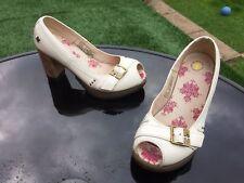 Dr Martens Latoya winter white peep toe high heels UK 4 EU 37 ideal wedding shoe