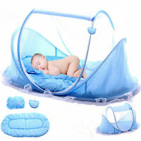 Newborn Folding Infant Kids Baby Crib Canopy Mosquito Net Bed Cot Tent Netting