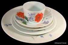 Retired Raynaud Ceralene Limoges Pavot Poppy 5 Pc Place Setting w/ Ten Available