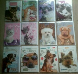 HAPPY BIRTHDAY CARD*CUTE CATS*DOGS*DESIGN*FUNNY*CHOOSE*FUNNY*GREETING*ANIMALS