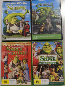 Shrek - The Whole Story : Quadrilogy (DVD 4-Disc Set) 2 The Third Forever After