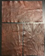 3 pieces Rich Mahogany Coloured Real Leather Off Cut, Craft, Patches Repair