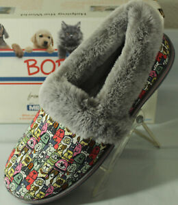 BOBS FROM SKECHERS TOO COZY DOG PRINT WOMEN'S SLIPPERS,  113222/G