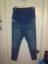 TIME AND TRU, MATERNITY JEANS, LIGHT BLUE, SIZE 16-18 (XL)