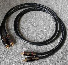 *Custom Pseudo Balanced* Van Damme Silver Plated OFC RCA Phono Ultra Cable 1m