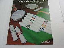 Country Crafts Pat Waters Designs for the Table Napkin Ring Leaflet 16 1976