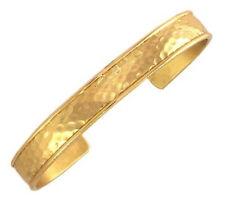 Sergio Lub Brass Cuff Bracelet - Hammered Brass - Large