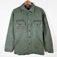 S Men's 1940s WWII US Army HBT 13 Star Fatigue Shirt 40s Vtg WW2 Field Jacket 36