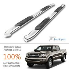"4"" Bent Nerf Bar Step Running Board FOR 2005-2017 TOYOTA TACOMA DOUBLE CAB 4 Dr"
