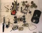 Vintage Slot Car Parts Lot 5 Motors 3 Chassis Classic Manta Ray Cox
