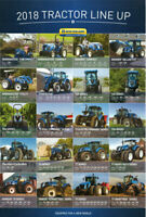Ford New Holland Tractor 2018 Collection Range BROCHURE/POSTER ADVERT A3
