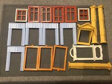 Playmobil 5301 Maison Victorienne 1900 Gros lot pièces fenêtres rideaux