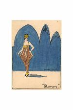 Rhoda Slack, 1920s Lady Art Deco Design – Original 1926 pen & ink drawing
