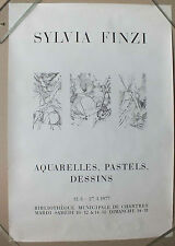 AFFICHE D EXPOSITION - SYLVIA FINZI - CHARTRES - MARS 1977 -12