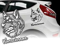 Auto Aufkleber Hundeaufkleber Alaskan Malamute Schlittenhund