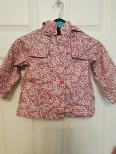 Vertbaudet Girls Pink Floral Raincoat Age 3 Years