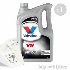 Car Engine Oil Service Kit / Pack 5 LITRES Valvoline VR1 Racing 20w-50 5L