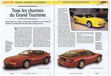 CAHIER AUTOMOBILE  L'ALPINE A610 RENAULT  (10 pages)