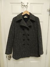 Women's J CREW Classic Wool Peacoat Double Breasted Quilted Lined Jacket Coat M