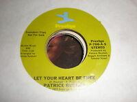 Patrice Rushen 45 Let Your Heart Be Free PRESTIGE PROMO