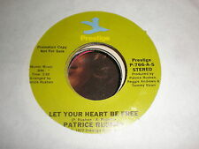 Patrice Rushen 45 Let Your Heart Be Free PRESTIGE PROMO