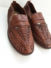 Mens Loafers Brown Burton Shoes  Size 7  Summer Cutwork