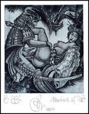 Agirba Ruslan 2007 Exlibris C3 Project Graphic Samurai Japan Erotic Nude 286p