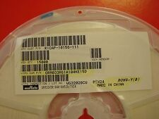 0201 Size 0.1uF 10V 10% X5R Ceramic Capacitor MuRata GRM033R61A104KE15D, Qty.100