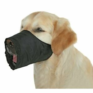 Trixie Dog Muzzle XS-S Adjustable Small Breeds (Jack Russell), Polyester - Black