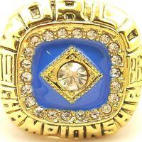 1986 NY Mets Gooden Baseball MLB World Series 18k Gold Plated Championship Ring