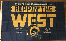 LA RAMS 2018 NFC Reppin The WEST CHAMPIONS Flag Banner NEW NFL 3 ' X 5 ' Feet