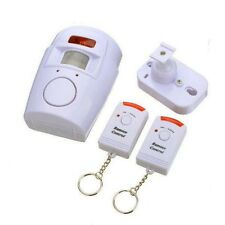 Shed Home Garage Caravan Wireless Pir Motion Sensor Alarm + 2 Remote Controls
