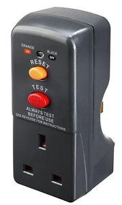 Masterplug RCD Safety Plug Socket Adapter Circuit Breaker Trip Switch Power Tool