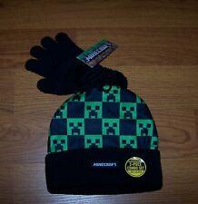 One Size Child Boys Minecraft  Hat & Glove Set 2-Piece