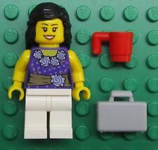 LEGO SONJA OLSON CUSTOM MINIFIG LOT female girl TEACHER BUSINESS purple blouse
