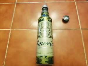 Budweiser 2017 military aluminum beer bottle