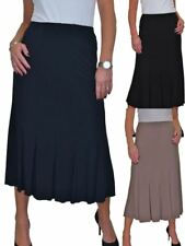 Womens Fishtail Midi Maxi Panel Lined Skirt With Sheen 10-22
