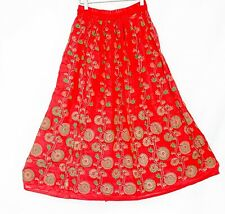 100% Cotton Boho Lace Floral designs Sweep Skirts