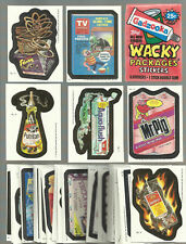 1985 Topps Wacky Packages Complete Sticker Card Set with Wrapper 44/44 EX+