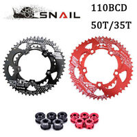 110BCD 50T/35T Road Bike Chainring Double Speed Oval Chainwheel fit SHIMANO,SRAM