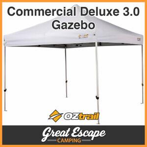 OZtrail Commercial 3.0 Gazebo Deluxe White Gazebo 3 x 3
