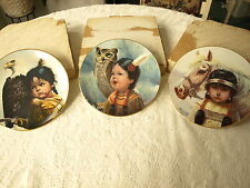 Collector Plates, Perillo Native Am Indian Children