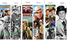 3 Old Time WESTERN TV SHOW BOOKMARKS FUN Old West Black White Movies Shows