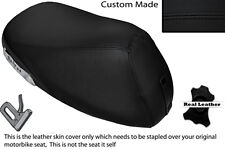 BLACK STITCH CUSTOM FITS YAMAHA YH 50 WHY FRONT LEATHER SEAT COVER