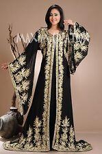DUBAI VERY FANCY KAFTANS abaya jalabiya Ladies Maxi Dress New Wedding gown 3941