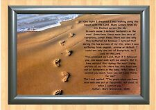 FOOTPRINTS IN THE SAND  INSPIRATIONAL  POSTER
