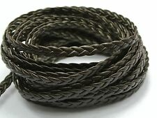 32.8 Feet Brown Flat Braided Bolo Synthetic Leather String Jewelry Cord 5X1mm