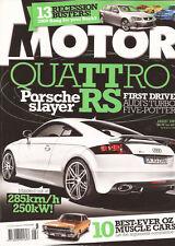 Motor Aug 09 Audi S4 BMW 335i FPV FG F6 Mclaren SLR Passat CC TT Quattro RS