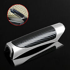 Car Carbon Fiber Style E Hand Brake Break Protector Decoration Cover Universal